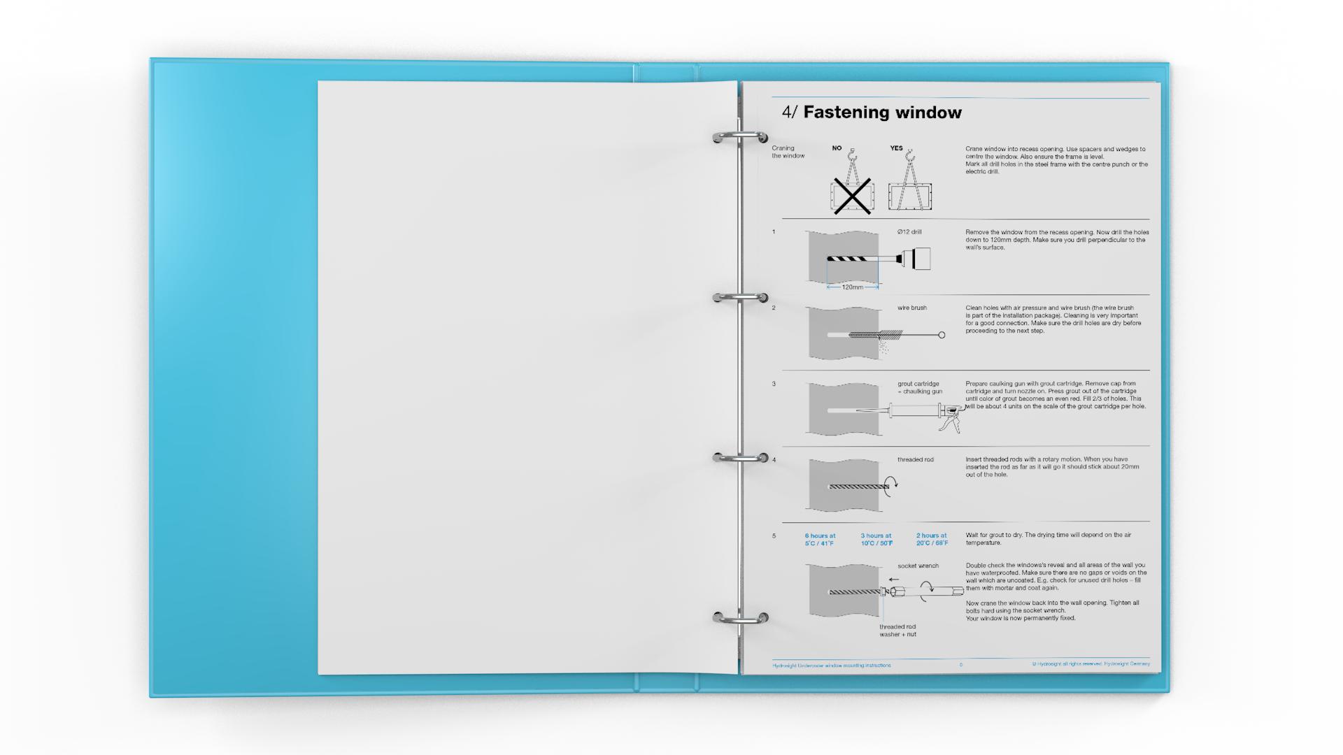 Instructie-handleiding & infographics voor Hydrosight