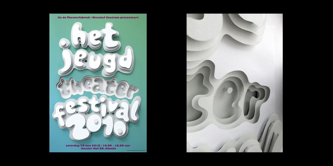 Affiches 'jeugd theather festival'