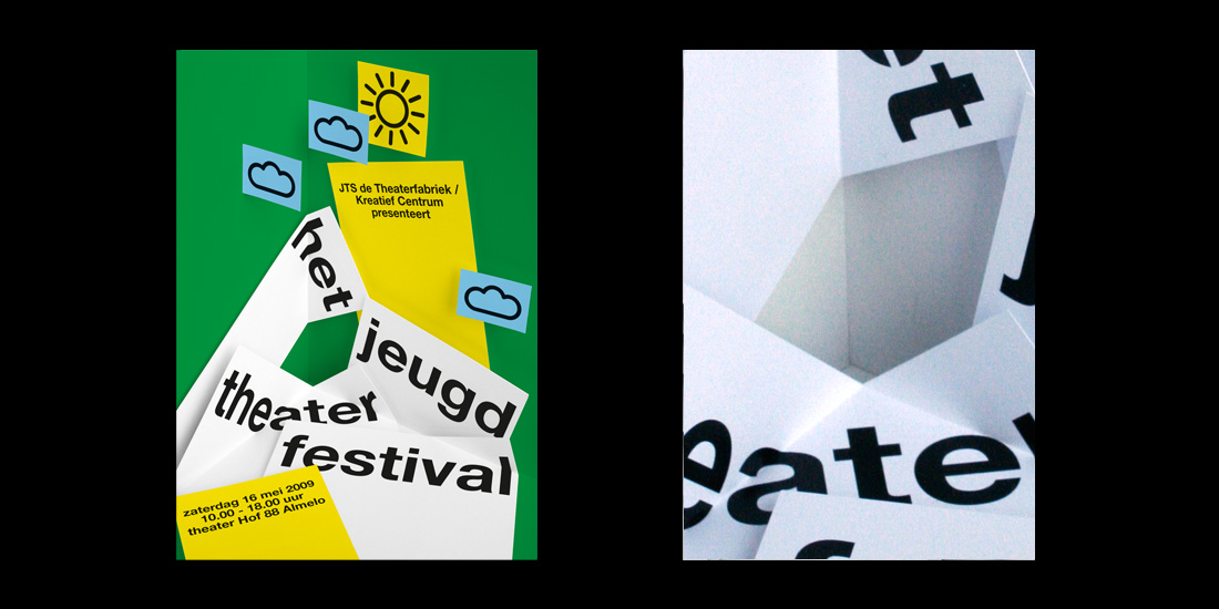Affiches 'jeugd theather festival'