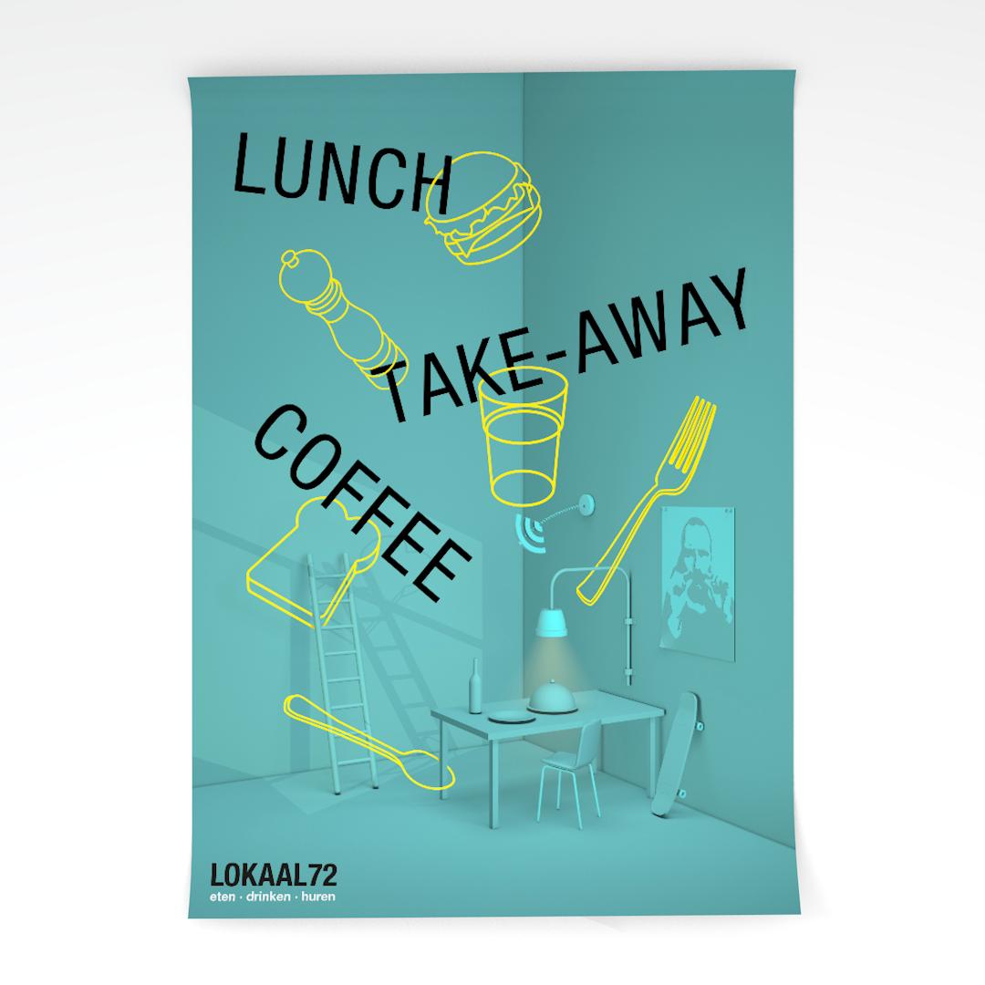 Poster voor restaurant Lokaal72