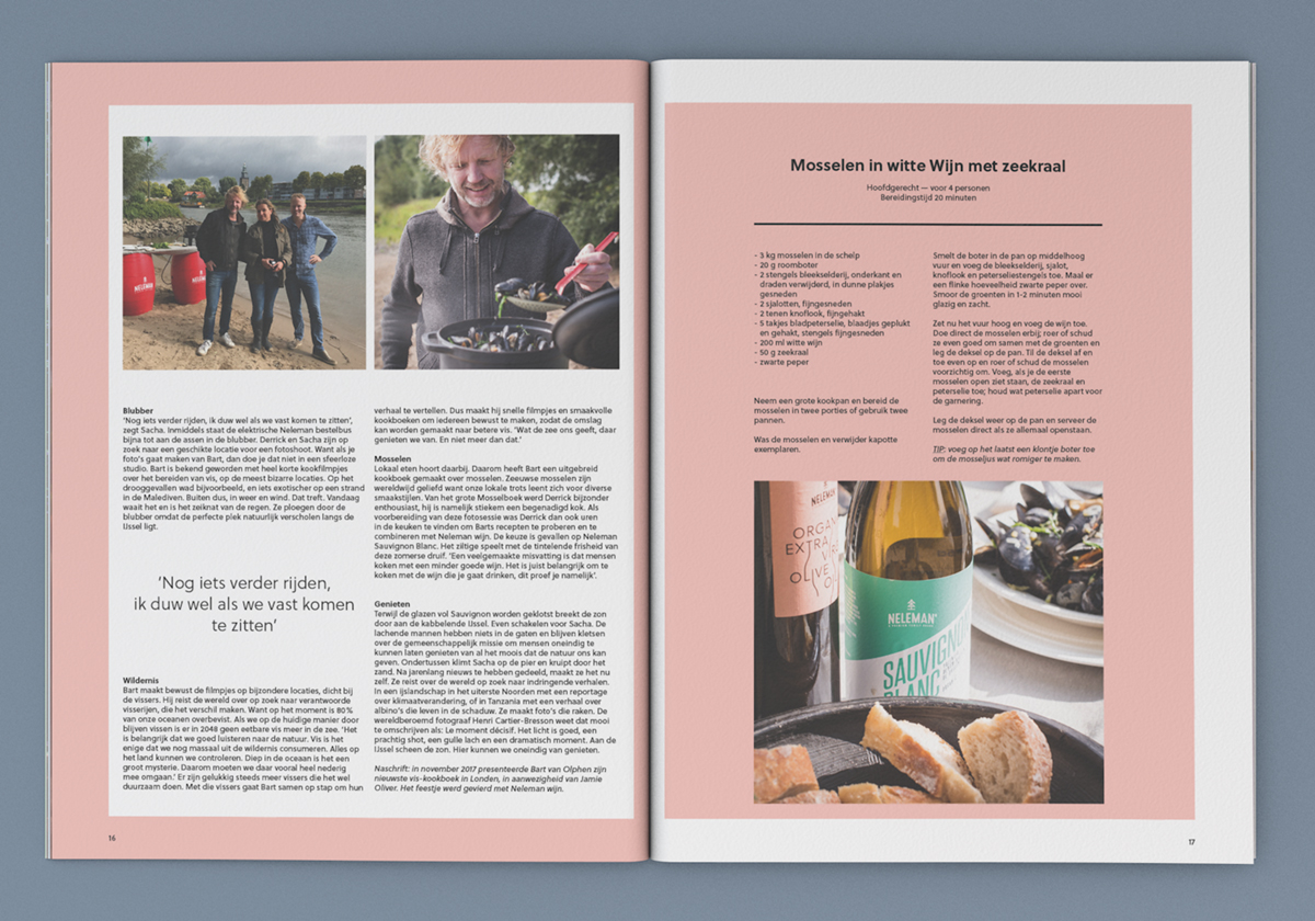 Brochure voor Neleman Wines