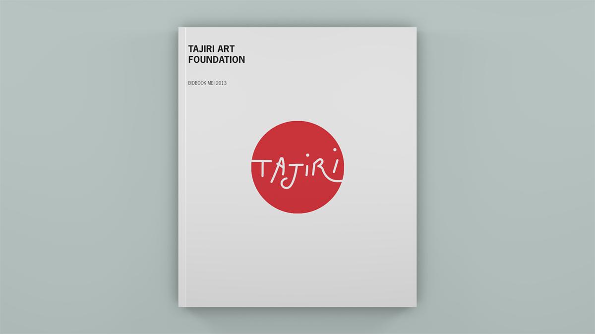 Boekontwerp voor de Tajiri Art Foundation