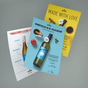 Diverse drukwerk-items voor Neleman Wines
