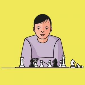 "Illustraties voor het boek ""Mental Toughness in Chess"""
