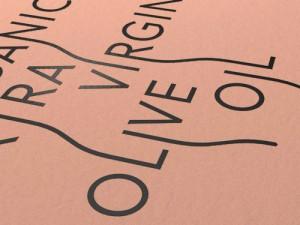 Fles etiket voor Neleman organic extra virgin olive oil