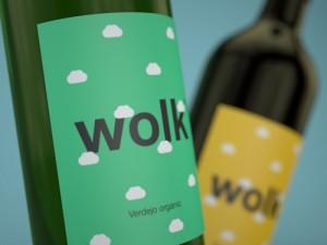Wolk - wijnetiketten